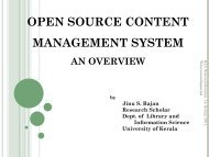 OPEN SOURCE CONTENT MANAGEMENT SYSTEM: AN OVERVIEW