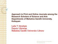 Laila T. Abraham. Approach to Print and Online Journals among the ...