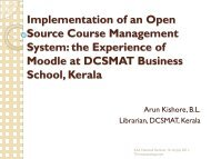 Implementation of an Open Source Course Management System ...