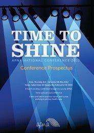 Conference Prospectus - APNA