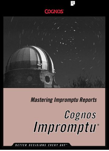 Mastering Impromptu Reports - MERLIN.net