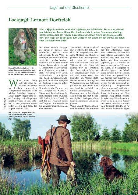 Lockjagd: Lernort Dorfteich