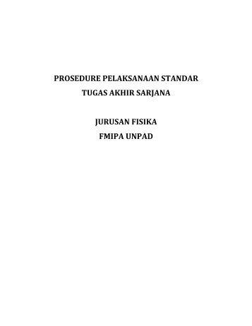 Buku Panduan Pengambilan Tugas Akhir - Fisika Universitas ...