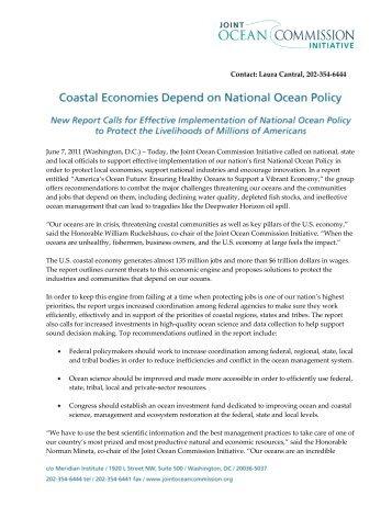 Dear Mr - Joint Ocean Commission Initiative