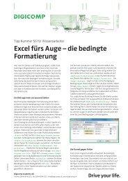 Excel fürs Auge – die bedingte Formatierung - Digicomp