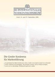 10. Interantionales Markentechnikum® - Institut für Markentechnik SA