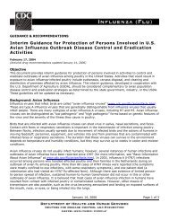 Interim Domestic Guidance for Persons Involved in Avian Influenza ...