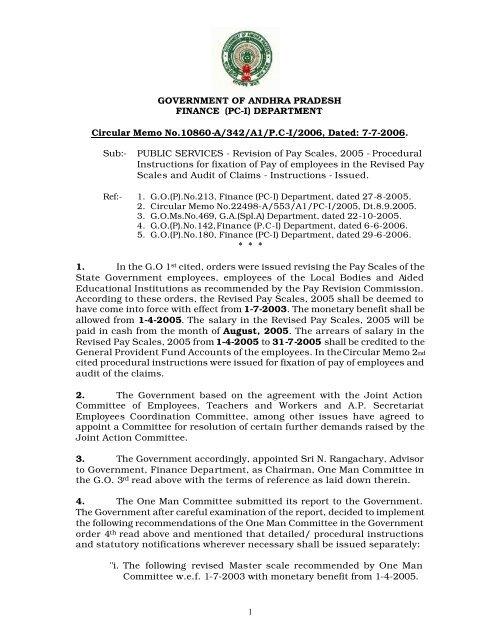 GO Memo 10860 2006 - Seri ap gov in
