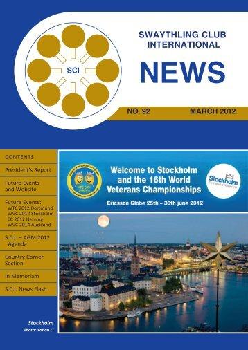 New >> SCI News No 92 - ITTF