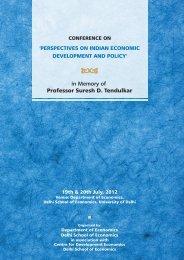 for madam Programme 08 - Department of Economics, DSE