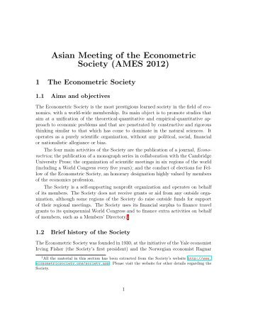 AMES 2012 Summary Information - Department of Economics, DSE