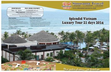 Splendid Vietnam Luxury Tour 21 days 2014 (Spring Tour) Splendid ...