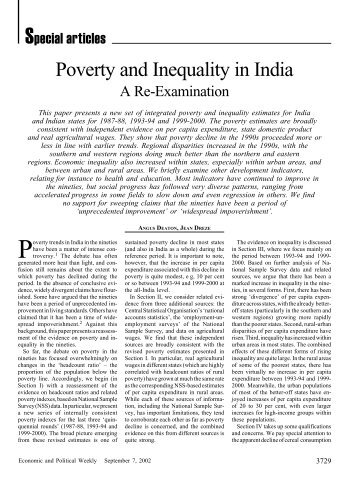 poverty in india articles