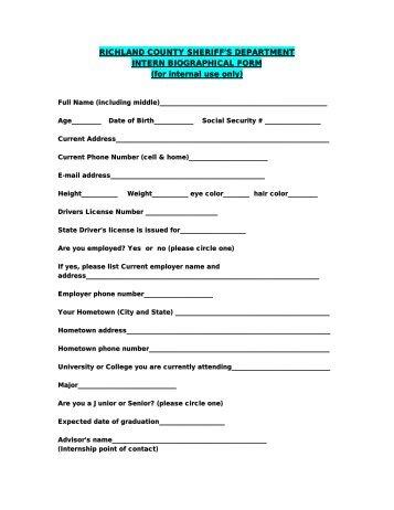 Biographic Information G 325