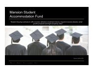 Mansion Student Accommodation Fund - The Mansion Group