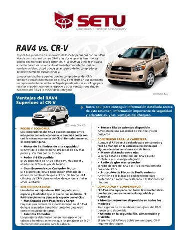 RAV4 vs. CR-V - SET University
