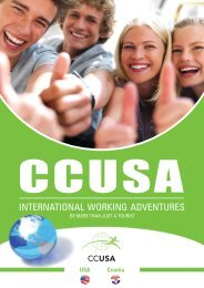 international working adventures - primavera camping tours