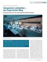 der bayerische Weg - Integrierte Leitstellen in Bayern