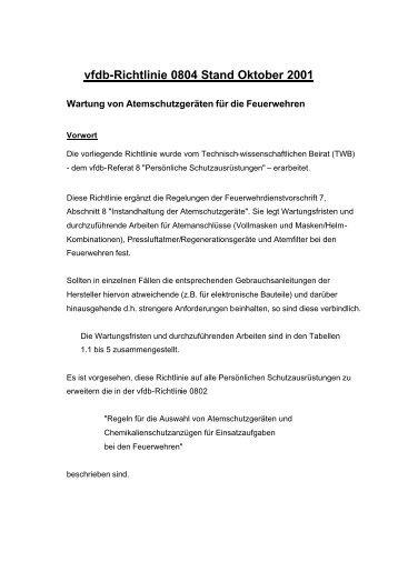 vfdb-Richtlinie 0804 Stand Oktober 2001 - PICO-Medical GmbH