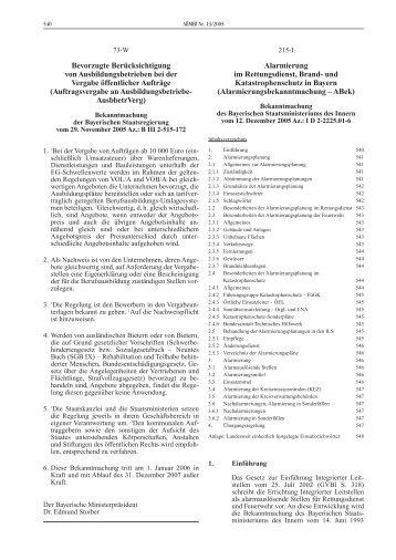 Alarmierungsbekanntmachung - Integrierte Leitstellen