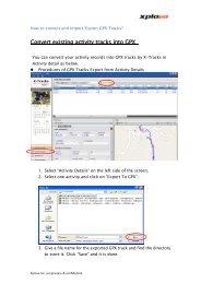 Convert existing activity tracks into GPX - Xplova
