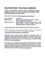 Ukrajina – medzi partnerstvom a integráciou - Politické vedy
