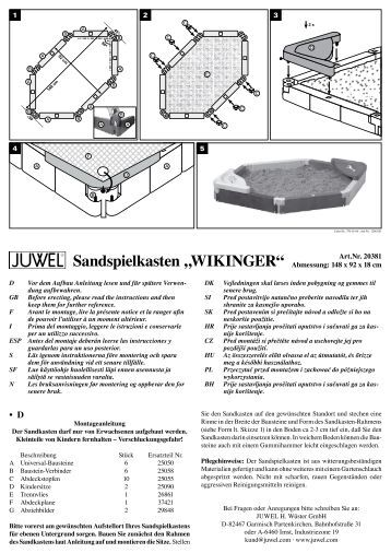 "Sandspielkasten ""WikiNger"" - Juwel"