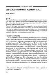 Bezpečnostná dynamika – Kodanská škola - Politické vedy