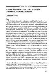 Postavenie ľavicových politických strán v Spolkovej ... - Politické vedy
