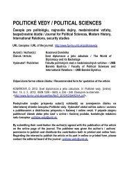 Svet diplomacie a jeho zákulisie - Politické vedy - Univerzita Mateja ...