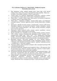 Tézy k bakalárskej štátnej skúške v študijnom programe
