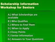 Scholarship Presentation - Gull Lake Community Schools