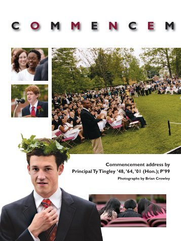 C O M M E N C E M - Phillips Exeter Academy
