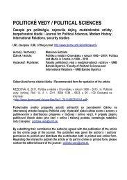 Politika a médiá v Chorvátsku v rokoch 1990 - Politické vedy