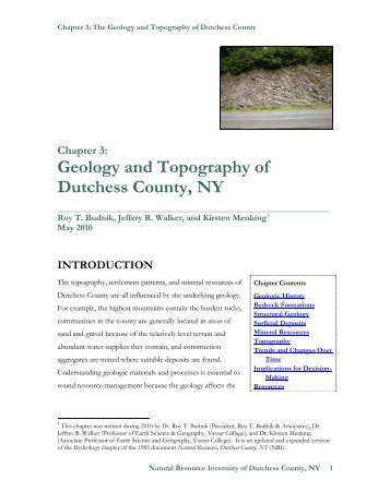 Geology and Topography of Dutchess County, NY