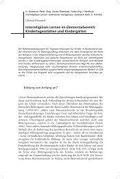 Interreligiöses Lernen im Elementarbereich: Kindertagesstätten und ...