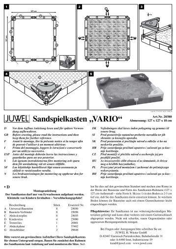 """Sandspielkasten """"VArio"""" - Juwel"""