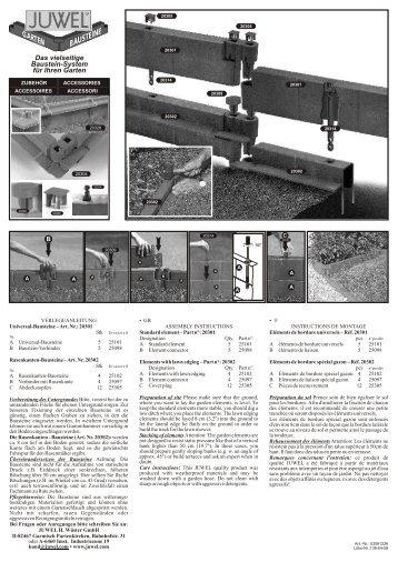 Das vielseitige Baustein-System für Ihren Garten - Juwel