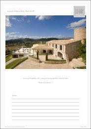 Luxury Villa in Arta - Ref. 03-09 - Luxury Holidayhomes on Mallorca