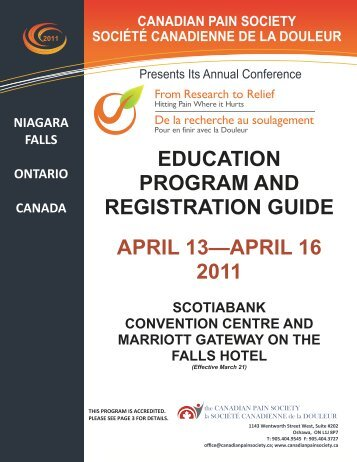 Download the Education Program Guide Here - The Canadian Pain ...