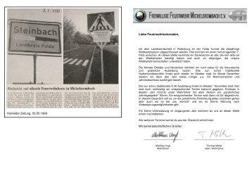 Dienstplan 4. Quartal 2010 - Feuerwehr Michelsrombach