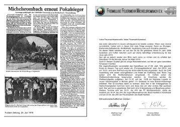 Fuldaer Zeitung, 25. Juli 1978 Mit kameradschaftlichen Grü ßen