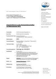 Ausschreibung zu den Kreismeisterschaften im Rettungssport 2013