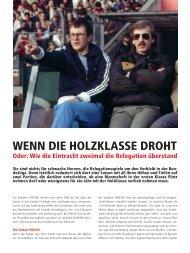 WENN DIE HOLZKLASSE DROHT - Eintracht-Archiv