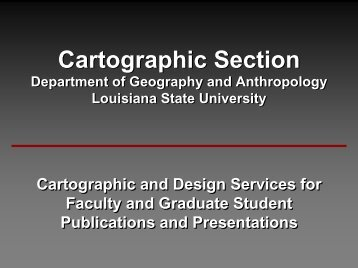 Cartographic Section Services - Department of Geography and ...