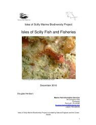 Isles of Scilly Fish and Fisheries - Cornwall Wildlife Trust