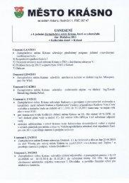 Usnesení z 4.jednání zastupitelstva - Město Krásno