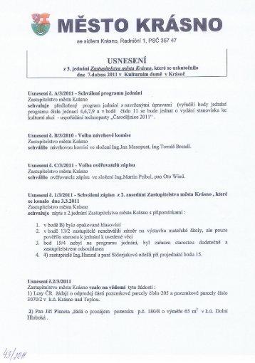 Usnesení z 3.jednání zastupitelstva