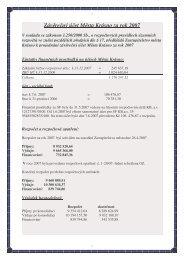Závěrečný účet Města Krásno za rok 2007 - Město Krásno