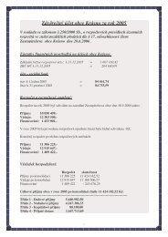 Závěrečný účet obce Krásno za rok 2005